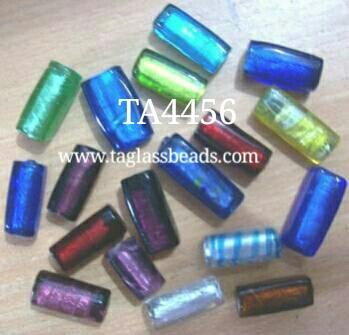 Silver Foil Glass Beads