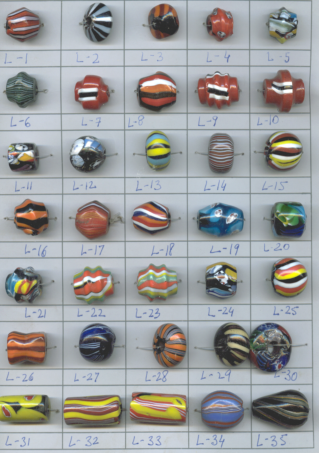 PLAIN GLASS BEADS