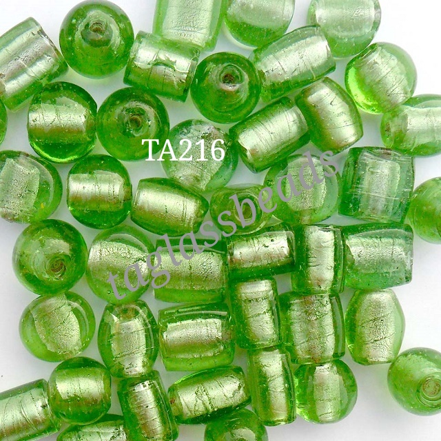 SILVER FOIL MIX BEADS